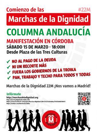 Cartel Marchas Columna Andalucía