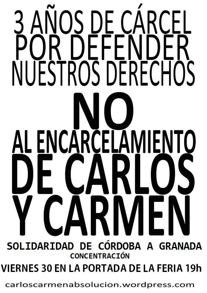 Solidaridad con Carmen y Carlos