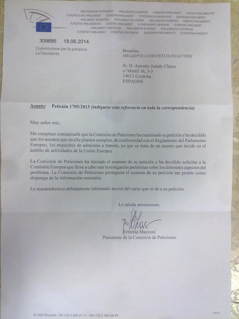 140618 respuesta BRUSELAS