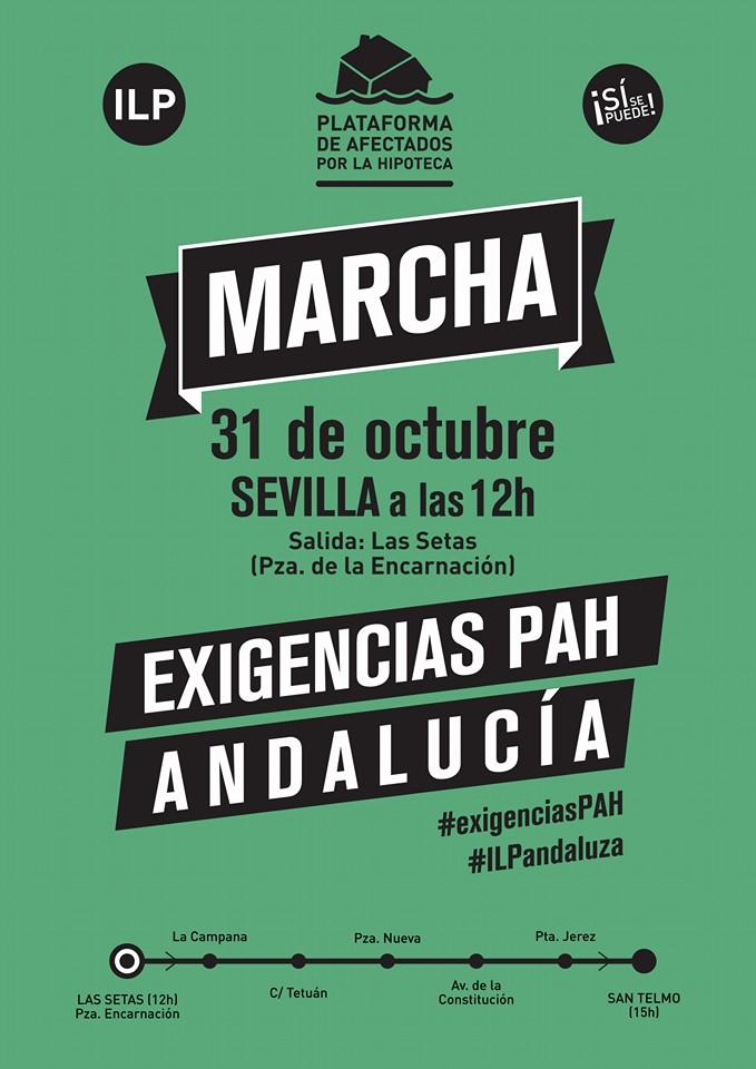 MANIFESTACIÓN EN SEVILLA 31-10-15